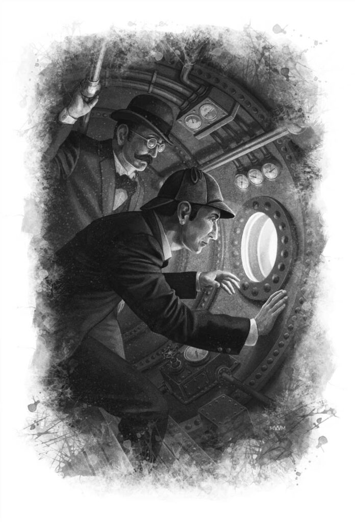 Sherlock Holmes: Tales of Mystery and Horror Interior Illustration